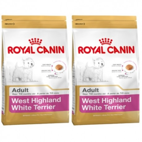 West Highland White Terrier 21 Adult  0,5 kg + 0,5 kg Gratis Royal Canin