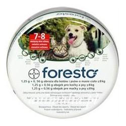 Foresto obroża przeciw kleszczom dla kotów i małych psów do 8 kg