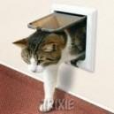 Drzwi dla kota FreeCat de Luxe - brązowe TRIXIE