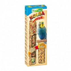 """Kolba """"2 w 1"""" dla małych papug - biszkoptowa i miodowa 2 sztuki NESTOR"""