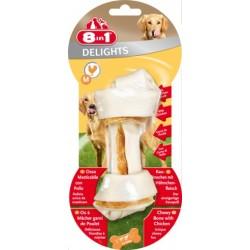 Kość wiązana Delights Bone M z mięsem kurczaka 1 szt 8in1