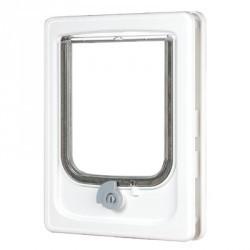 Drzwiczki dla MAŁYCH PSÓW wyposażone w czterofunkcyjny system zamykania do drzwi drewnianych Biały ZOLUX