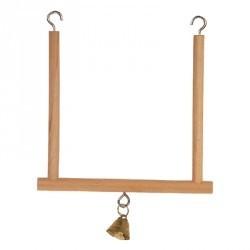 Huśtawka drewniana z dzwonkiem ZOLUX