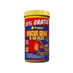 Pokarm w formie tonącego granulatu dla paletek TROPICAL DISCUS GRAN D-50 PLUS 20 g TROPICAL