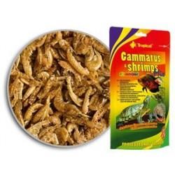 Pokarm dla żółwi i innych gadów oraz dużych ryb ozdobnych GAMMARUS & SHRIMPS MIX 20 g TROPICAL