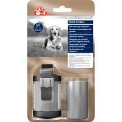 Poop Patrol Dispenser & Pet Waste Bags Pojemnik i torebki na odchody 8in1