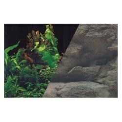 W rulonie dekoracja rośliny czarny/skała 60/15 cm ZOLUX