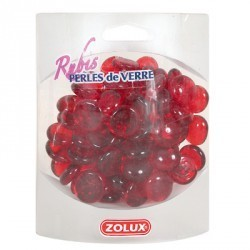 Perełki szklane rubinowe 390 g ZOLUX